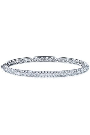 KWIAT 18kt white gold diamond Moonlight three-row medium bangle