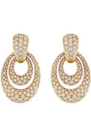 FRED LEIGHTON 18kt yellow diamond doorknocler earrings