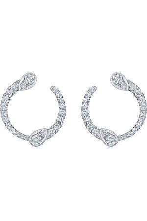KWIAT 18kt white gold Eclipse diamomnd hoop earrings