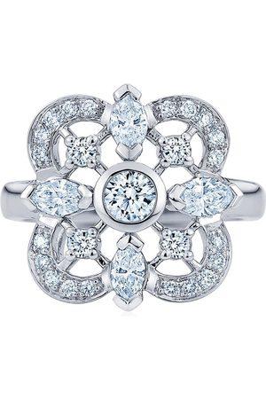 KWIAT 18kt white gold clover diamond ring