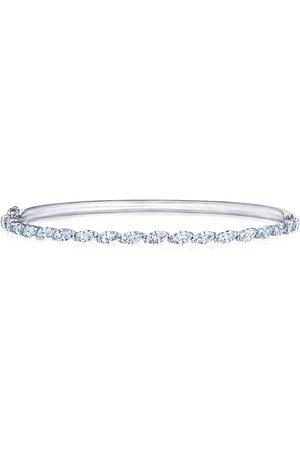KWIAT 18kt white gold marquise diamond bangle