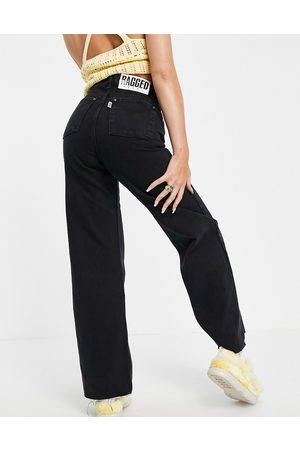 The Ragged Priest Women High Waisted - High waisted wide leg jeans in charcoal wash