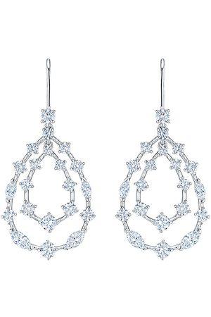 KWIAT 18kt white gold diamond Starry Night double teardrop earrings