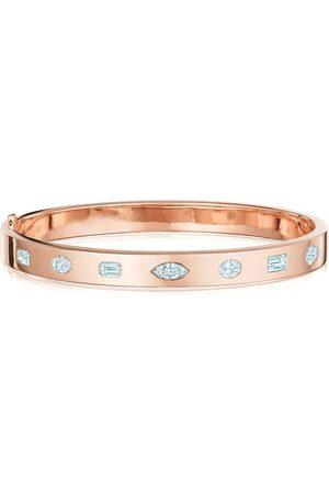 KWIAT 18kt rose gold fancy shape diamond stackable bangle