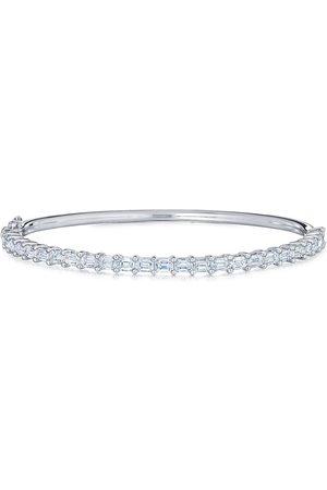 KWIAT 18kt white gold emerald cut diamond bangle