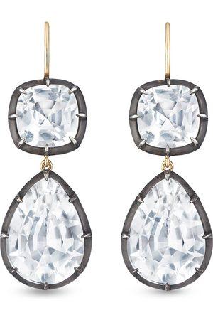 FRED LEIGHTON 18kt double topaz drop earrings