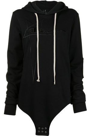 Rick Owens X Champion Logo-embroidered hooded body