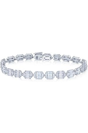 KWIAT 18kt white gold emerald cut diamond Sunburst bracelet