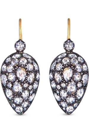 FRED LEIGHTON 18kt yellow diamond Bombe Inverted teardrop earrings