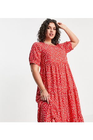 Yours Women Casual Dresses - Exclusive puff sleeve maxi dress in floral