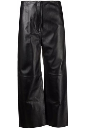 Totême Cropped leather trousers