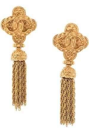 Chanel Pre-Owned 1994 CC tassel dangling earrings