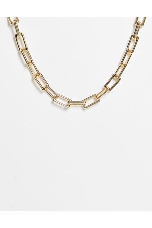 Monki Women Necklaces - Ashley chunky square chain necklace in