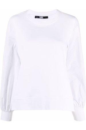Karl Lagerfeld Balloon-sleeve sweatshirt