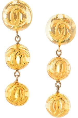 Chanel Pre-Owned CC dangling clip-on earrings