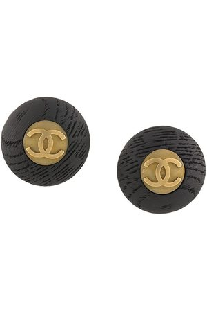 Chanel Pre-Owned 1994 oversized CC button clip-on earrings
