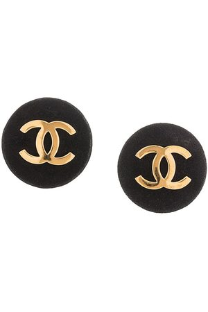 Chanel Pre-Owned CC button clip-on earrings