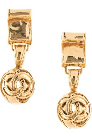 Chanel Pre-Owned 1994 CC dangling clip-on earrings