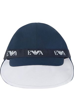 Emporio Armani Kids Logo-tape baseball cap