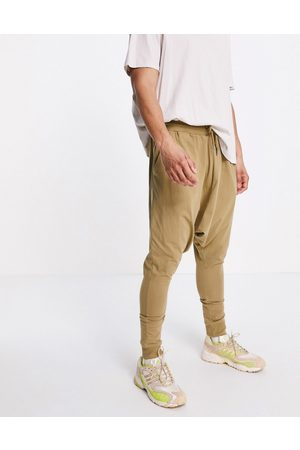 ASOS Lightweight extreme drop crotch joggers in sand
