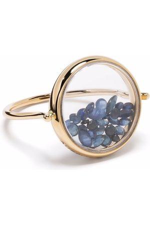 Aurelie Bidermann 18kt yellow Chivor ring with blue sapphires