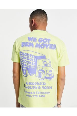 Crooked Tongues T-shirt with got dem moves print in