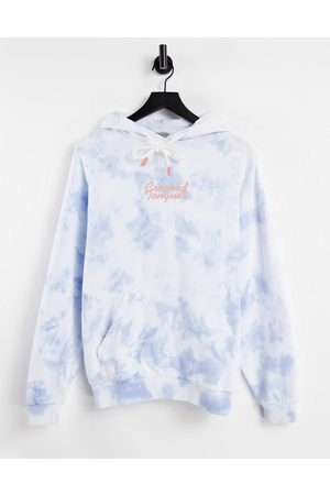 Crooked Tongues Co-ord super oversized hoodie in tie dye