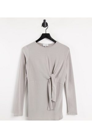 In The Style Maternity In The Style x Dani Dyer Maternity twist front long sleeve top in