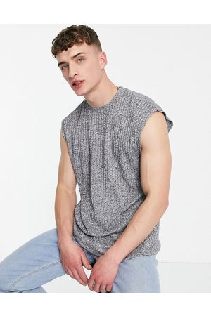 ASOS DESIGN Oversized vest in interest marl rib