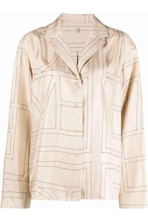 Totême Monogram silk pyjama shirt