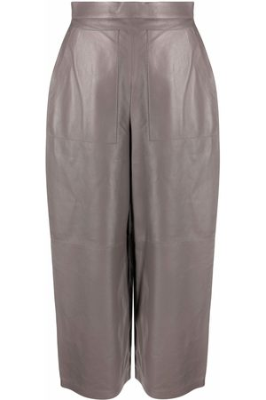 12 STOREEZ Wide-leg leather trousers
