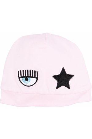 Chiara Ferragni Kids Logo-patch star beanie