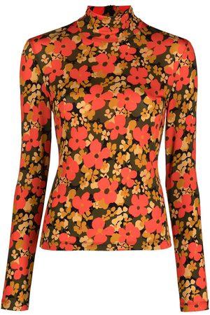 ROSETTA GETTY Floral-print rollneck top