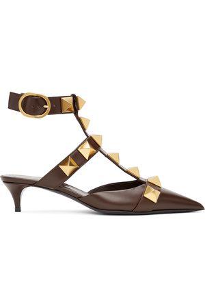 Valentino Garavani Brown Medium Roman Stud Heels