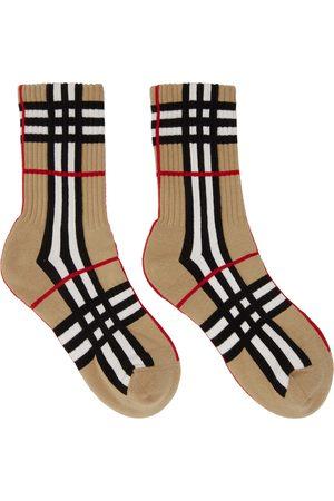 Burberry Intarsia Check Technical Stretch Socks