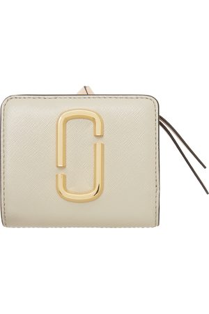 Marc Jacobs Grey & White Mini 'The Snapshot Compact' Wallet