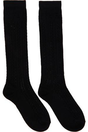Fendi Black Cotton Macramé Socks