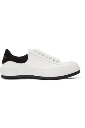 Alexander McQueen White & Deck Plimsoll Sneakers