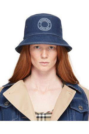 Burberry Denim Circle Logo Bucket Hat