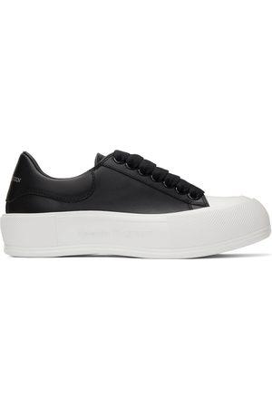 Alexander McQueen & Leather Deck Plimsoll Sneakers