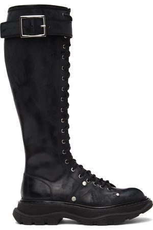 Alexander McQueen Tread Lace-Up Tall Boots