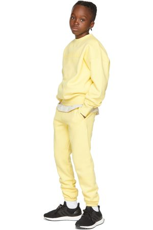 Essentials Kids Yellow Fleece Sweat Lounge Pants