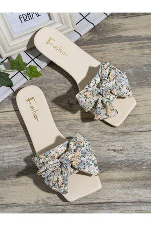 YOINS Calico Bowknot Flat Sandals