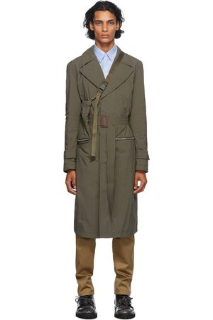 Maison Margiela Green Recycled Packable Trench Coat