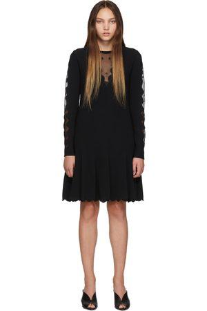 Alexander McQueen Knit Ottoman Mini Dress