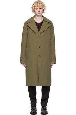 Maison Margiela Green Cotton Twill Trench Coat