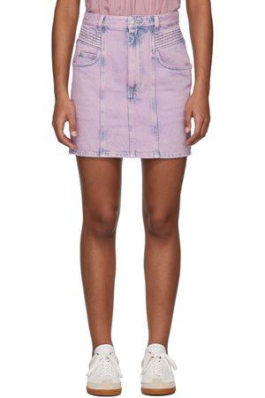 Women Denim Skirts - Isabel Marant Etoile Pink Denim Hondo Skirt
