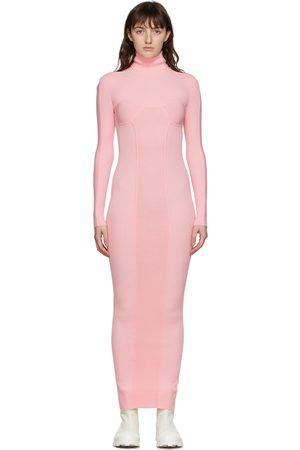 Sunnei Rib Knit High Neck Dress