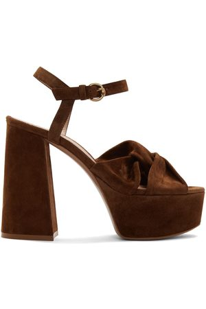 Gianvito Rossi Suede Twisted 70 Heeled Sandals
