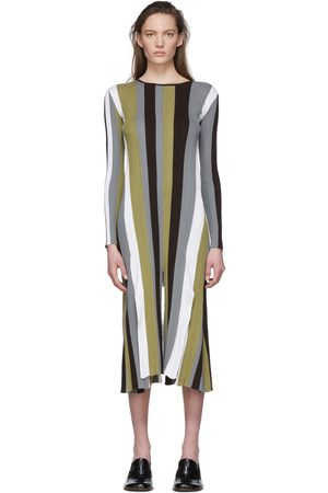 Loewe Multicolor Striped Rib Knit Dress